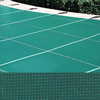 Meyco 12 x 28 Rectangle PermaGuard Solid Green Safety Pool Cover With No Drains - Includes Pump Item #M1228PGP