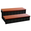 Spa Step with Storage Redwood Item #NP5651