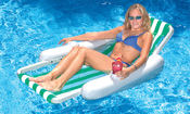 Swimline SunChaser Floating Lounge Chair for Pools - Item 10000