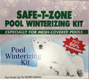 Safe-T-Zone Winterizing Kit for Mesh Covered Pools 30,000 gal - Item 2683