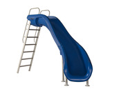 S.R. Smith Rogue2 Pool Slide in Blue with Right Turn - Item 610-209-5813