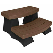 Sure Step II Spa Steps - Espresso with Black - Item 6130405