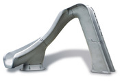 S.R. Smith Typhoon Pool Slide in Granite with Left Turn - Item 670-209-58224