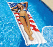 "Swimline Americana 78"" Graphic Print Mattress - Item 90176"