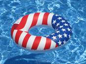 "Swimline Americana 36"" Full Size Swim Ring - Item 90196"