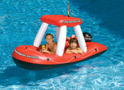 Swimline Inflatable Fire Boat Ride-On Squirter - Item 90752