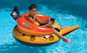 Swimline Inflatable Jolly Roger Ride-On Water Blaster - Item 90785
