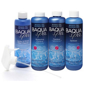 Baqua Spa Water Care System with Free Spray and Rinse Filter Cleaner - Item BSCARESYSTEM