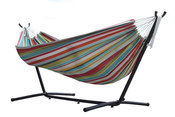Vivere Polyester Rope Double Hammock with 9 ft. Stand - Ciao - Item C9POLY-10