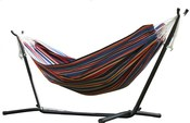 Vivere Polyester Rope Double Hammock with 9 ft. Stand - Techno - Item C9POLY-11