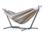 Vivere Brazilian Sunbrella Double Hammock with 9 ft. Stand - Confetti - Item C9SUNC