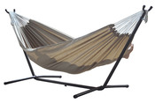 Vivere Brazilian Sunbrella Double Hammock with 9 ft. Stand - Sand - Item C9SUNS