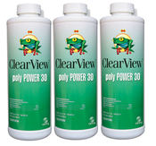 ClearView Poly Power 30 Algaecide 32 oz - 3 Pack - Item CVLPP30QT12-3