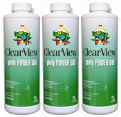 ClearView Poly Power 60 Algaecide 32 oz - 3 Pack - Item CVLPP60QT12-3