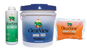ClearView Kit - 50 lb 3 inch Jumbo Tablets - 48 lb Shimmer-n-Shock - 4 Quarts ... - Item CVPAK10