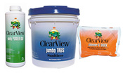 ClearView Kit - 50 lb 3 inch Jumbo Tablets - 48 lb Shimmer-n-Shock - 4 Quarts ... - Item CVPAK12