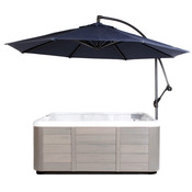 Cover Valet Spa Side Umbrella with Base - Navy - Item CVUMNV