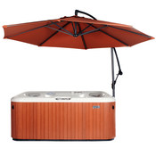 Cover Valet Spa Side Umbrella with Base - Rust - Item CVUMRUST