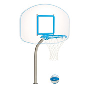 DunnRite Clear Hoop Regulation Pool Basketball Game Set - Item DMB450