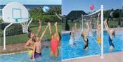 DunnRite Deck Shoot and Deck Volly Stainless Steel Pool Basketball & Volleyball ... - Item DMC100BRSS