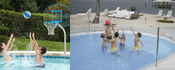 DunnRite Clear Hoop and Deck Volly Stainless Steel Pool Basketball & Volleyball ... - Item DMC450