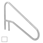 S.R. Smith Sloped Braced Safety Hand and Stair Rail - Pearl White - Item DMS-102A-PW