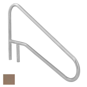 S.R. Smith Sloped Braced Safety Hand and Stair Rail - Taupe - Item DMS-102A-TP