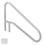 S.R. Smith Sloped Braced Safety Hand and Stair Rail - Polished Steel - Item DMS-102A