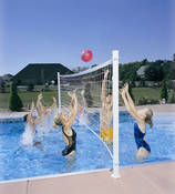 DunnRite Deck Volly Regulation Pool Volleyball Game Set - Item DMV100BR