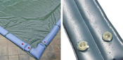 20 x 45 Inground Winter Pool Cover plus 18 Water Tubes 10 Year Green/Black ... - Item GPC-70-8160-WT