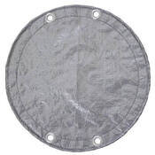 28 Round Above Ground Winter Pool Cover 15 Year Silver/Black - Item GPC-70-8207