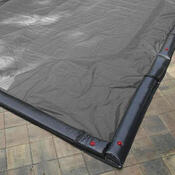 14 x 28 Inground Winter Pool Cover 15 Year Silver/Black Rectangle - Item GPC-70-8252