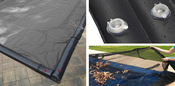 16 x 32 Inground Winter Pool Cover plus 12 Black Water Tubes and Leaf Guard 15 ... - Item GPC-70-8254-WT-LG