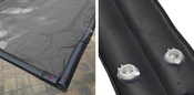 18 x 36 Inground Winter Pool Cover plus 14 Water Tubes 15 Year Silver/Black ... - Item GPC-70-8257-WT