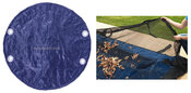 12 Round Above Ground Winter Pool Cover plus Leaf Guard 10 Year Blue/Black - Item GPC-70-9100-LG