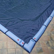 24 Round Above Ground Winter Pool Cover 10 Year Blue/Black - Item GPC-70-9105