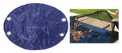16 x 32 Oval Above Ground Winter Pool Cover plus Leaf Guard 10 Year Blue/Black - Item GPC-70-9118-LG
