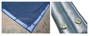 12 x 24 Inground Winter Pool Cover plus Water Tubes 10 Year Blue/Black Rectangle - Item GPC-70-9151-WT