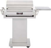 "TEC G Sport 36"" Infrared Propane Gas Grill with Stainless Steel Pedestal & Side ... - Item GSRLPFR-GSPED-GSFRSS"