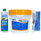 Poolife Kit - 21 lb Brite Stix Stabilized Chlorine - 12 lb TurboShock - 2 Quarts ... - Item HTHBRITE1