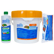 Poolife Kit - 50 lb 3 inch Cleaning Tablets - 24 lb TurboShock - 3 Quarts ... - Item HTHTAB2