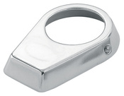 "S.R. Smith Chrome-Plated Cast Brass Oblong Escutcheon - 1.90"" O.D. - Item IEP-100"