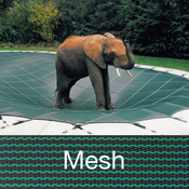 Loop-Loc - 16 x 36 Green Mesh Rectangle Safety Cover for Inground Pools - Item LLM1019