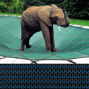 Loop-Loc - 16 x 34 Blue Mesh Rectangle Safety Cover for Inground Pools - Item LLM1204