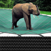 Pool Size: 14x28 Loop-Loc Black Mesh Rectangle Safety Cover for Inground Pools - Item LLM1276