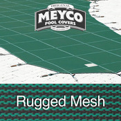 Meyco 18 x 36 Rectangle Rugged Mesh Green Safety Pool Cover - Item M1836RM