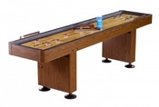 Challenger 9 ft. Shuffleboard with Walnut Finish - Item NG1205