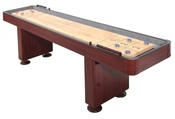 Challenger 9 ft. Shuffleboard with Dark Cherry Finish - Item NG1210