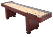 Challenger 12 ft. Shuffleboard with Dark Cherry Finish - Item NG1214