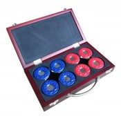 Shuffleboard Pucks with Case - Set Of 8 - Item NG1223